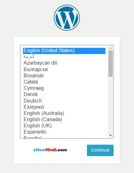 Wordpress installation Langues