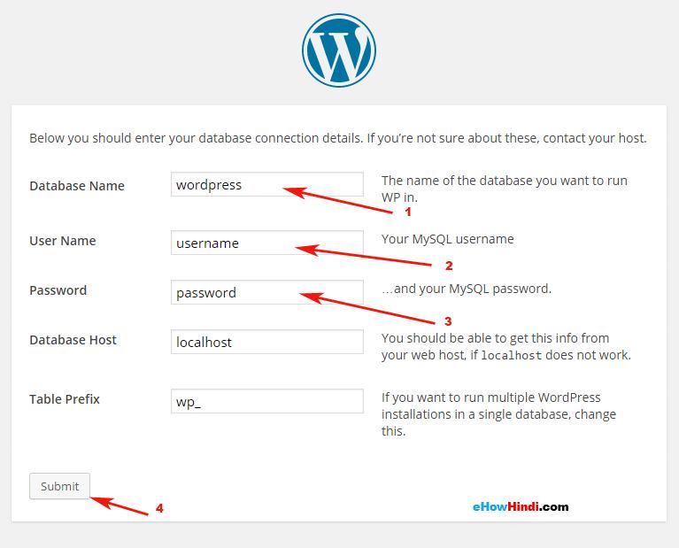 Wordpress database connect to MySQL database